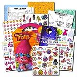 Disney Studios Trolls - Juego de pegatinas de viaje con pegatinas, actividades y colgador de puerta especial