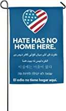 MoningV Hate Has No Home Here Decorative Garden Flag House Party Flag Stand Flag