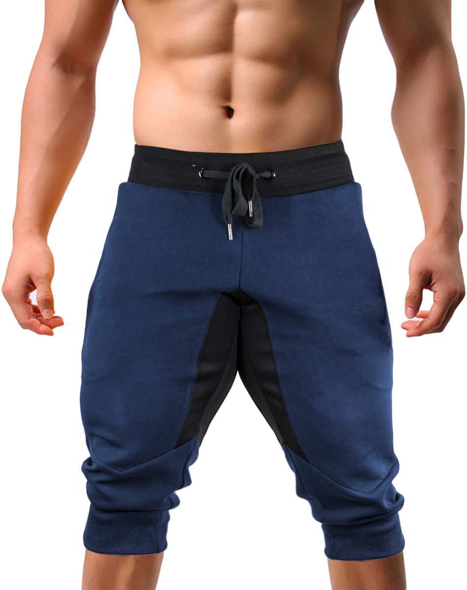 EKLENTSON Mens Jogger Pants High Elasticity Elastic Waist Gym Workout Running Sweatpants with Pockets