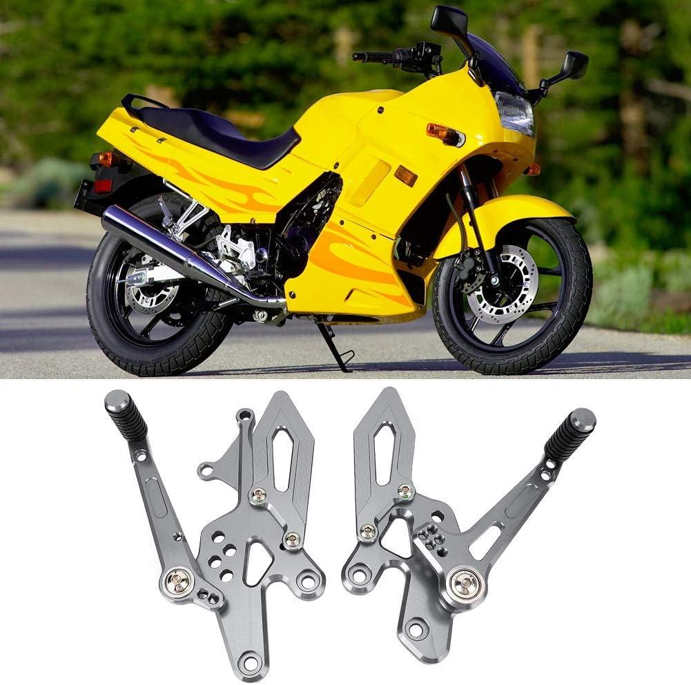 Pedane moto titanio pedane arretrate Set pedane Pedane regolabili CNC Pedane poggiapiedi Kit pedale adatto per Kawasaki ninja 300 250 z300