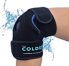 The Coldest Knee Ice Pack Wrap, Hot and Cold Therapy - Reusable Compression Best for Meniscus Tear, Injury Recovery, Bursitis Pain Recovery, Sprains, Swelling and Rheumatoid Arthritis (Knee Ice Pack)