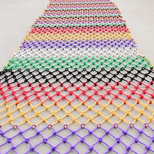 GSHWJS farbiges Treppenschutznetz, Kinder-Balkongeländer, bruchsicheres Netz, Kindergarten Sicherheitsnetz (Größe: 2 x 9 m)