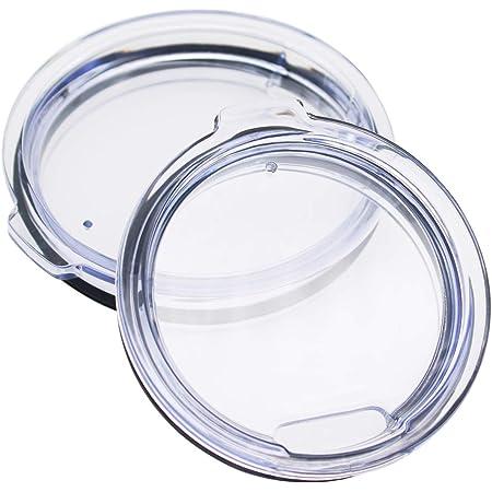 KUFUNG Tumbler Lids Spillproof 20 oz, Splash Resistant Lid for Tumbler/Fit Yeti Rambler/ Coffee Mug and More Cooler Cup (Transparent Hole, 20 OZ)