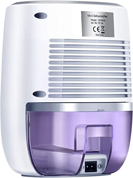 COSVII Small Dehumidifier Portable Mini Dehumidifier With 500ml Water Tank And Auto Shut Off For Basement Bedroom Bathroom Baby Room Kitchen Office 150 Sq Ft