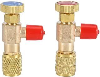 Válvula de control de flujo de cobre - Refrigerante de aire acondicionado Adaptador de seguridad de 1/4