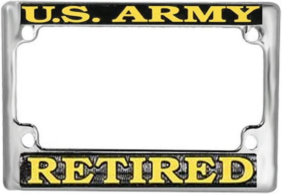 Honor Jacksonville Mall Country US Army Time sale Retired Plate Frame License Motorcycle