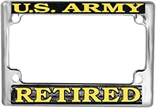 Honor Country US Army Retired Motorcycle License Plate Frame