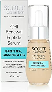 Sponsored Ad - SCOUT Cosmetics Cell Renewal Peptide Face Serum With Green Tea, Ginseng And Fig