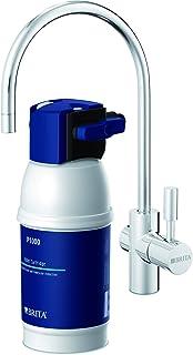 BRITA mypure P1 - Grifo de Agua con Filtro para 12 Meses - Sistema de filtrado, Reduce cal, cloro, metales, Acero Inoxidab...