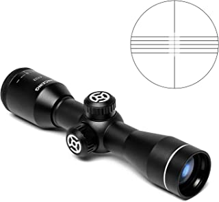 SONICKING 4x32 Compact Rifle Scope Crosshair Optics Hunting Gun Scope with 20mm Free Mounts