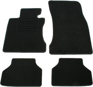 AD Tuning GmbH hg10003 Terciopelo Ajuste Soporte Negro Auto Juego de Alfombrillas para alfombras Alfombras Carpet