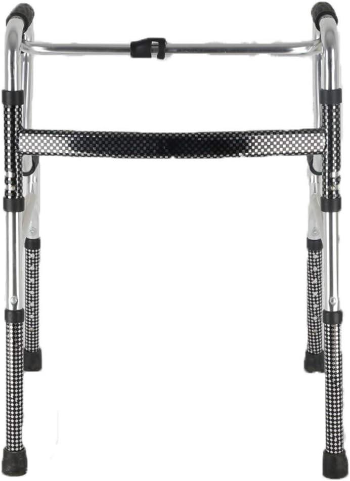 erfgh Max 67% OFF Indefinitely Shiny Matte Four-Legged Walker Alloy Wal Aluminum Foldable