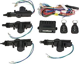 Keyless Entry Sistema Autocierre centralizado juego completo para cierre centralizado 4 puertas 1 caja de control, 2 mandos a distancia, 4 activador bloqueo puerta, 1 cable, 1 juego de accesorios