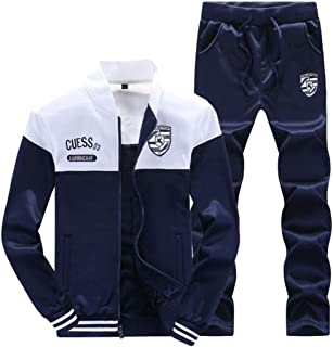 Men's Activewear Tracksuits 2 Pieces Full Zip Jogging Sweat Suits Outfits Set