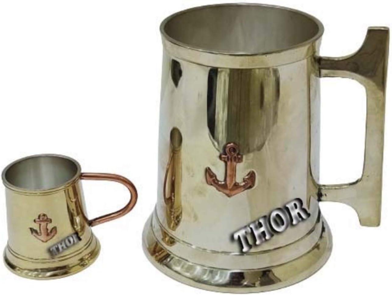 Brass Design Handle Anchor Ranking TOP13 coffee Mug Set of Max 86% OFF Nautical For Decor