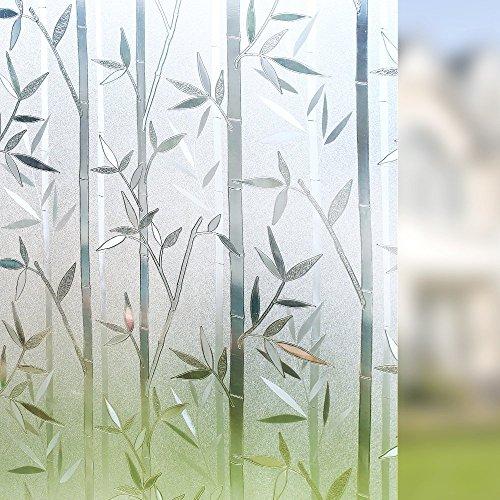 LMKJ Adhesivo estático para Ventana de Mantenimiento Fresco, película de Vidrio para el hogar Privado de bambú de Vinilo, Utilizada para película de Vidrio para Puertas y Ventanas A66 30x200cm