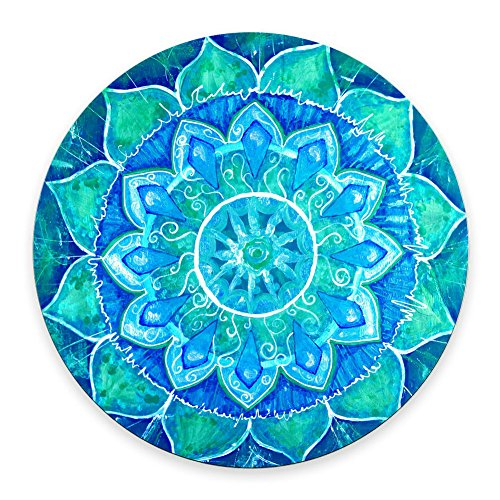 SSOIU Gaming Mouse Pad Custom,Anti Slip Mandala Mouse Mat for Desktops, Computer, PC and Laptops, Customized Round Mouse Pad for Office and Home