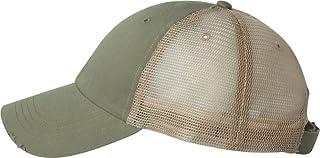 Mega Cap 6887 - Organic Cotton/Mesh Cap Olive/Khaki