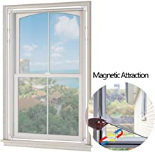 [2019 Upgrade] Adjustable Magnetic Window Screen, 59 × 39 Inch DIY Window Mesh for Any Size Window - Easy to Install and Disassemble