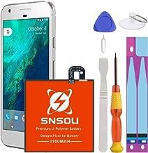 Google Pixel Battery, SNSOU 3100mAh Li-Polymer Replacement B2PW4100 Battery for HTC Google Pixel 1st 5