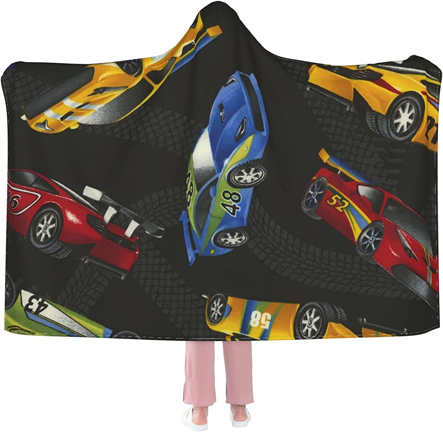 online shopping Racing Cars of Many Colors Anti-Pilling Flannel W Hooded Max 46% OFF Blanket