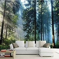 Bosakp 3D太陽の木の壁紙の壁のHd写真壁画ウォッシャブル壁紙家の装飾の壁紙Kidsroomlivingルーム連絡用紙 240X155Cm