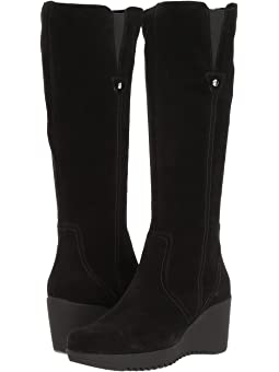 Women's Stretch Wedge Heel Boots + FREE