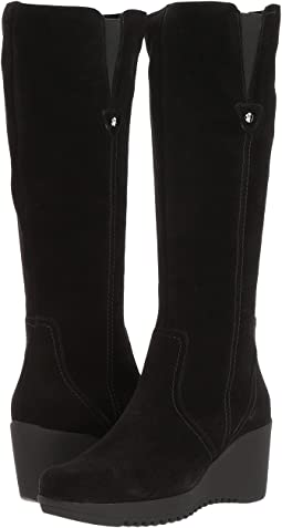dd8531ec635e Michael michael kors woods wedge boot black nappa sensitive stretch ...