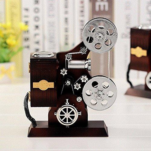 Festival y regalo de cumpleaños Decoración clásica de la caja de la joyería de la caja de música del mecanismo de la caja de música del mecanismo musical del mecanismo creativo 14.2 * 6.2 * 20.5Cm
