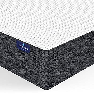 Queen Mattress,Inofia 10 Inch Queen Size Pillow Top Cool Memory Foam Mattress with CertiPUR-US Certified?Pressure Relief & Support, Removable Mattresses Cover,Double Size