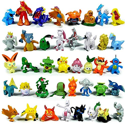 Mann 144 Pcs Anime Figures PET Set Heroes Action Figure Toy 2-3 cm Crazy pet Big Collectiongoogle ,Kid's Great Gifts