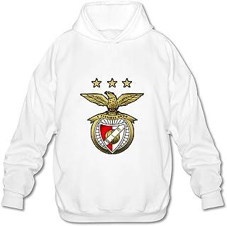 Men's Sl Benfica Fc Logo Long Sleeves Hoodies Sweatshirt White Newest By Rahk
