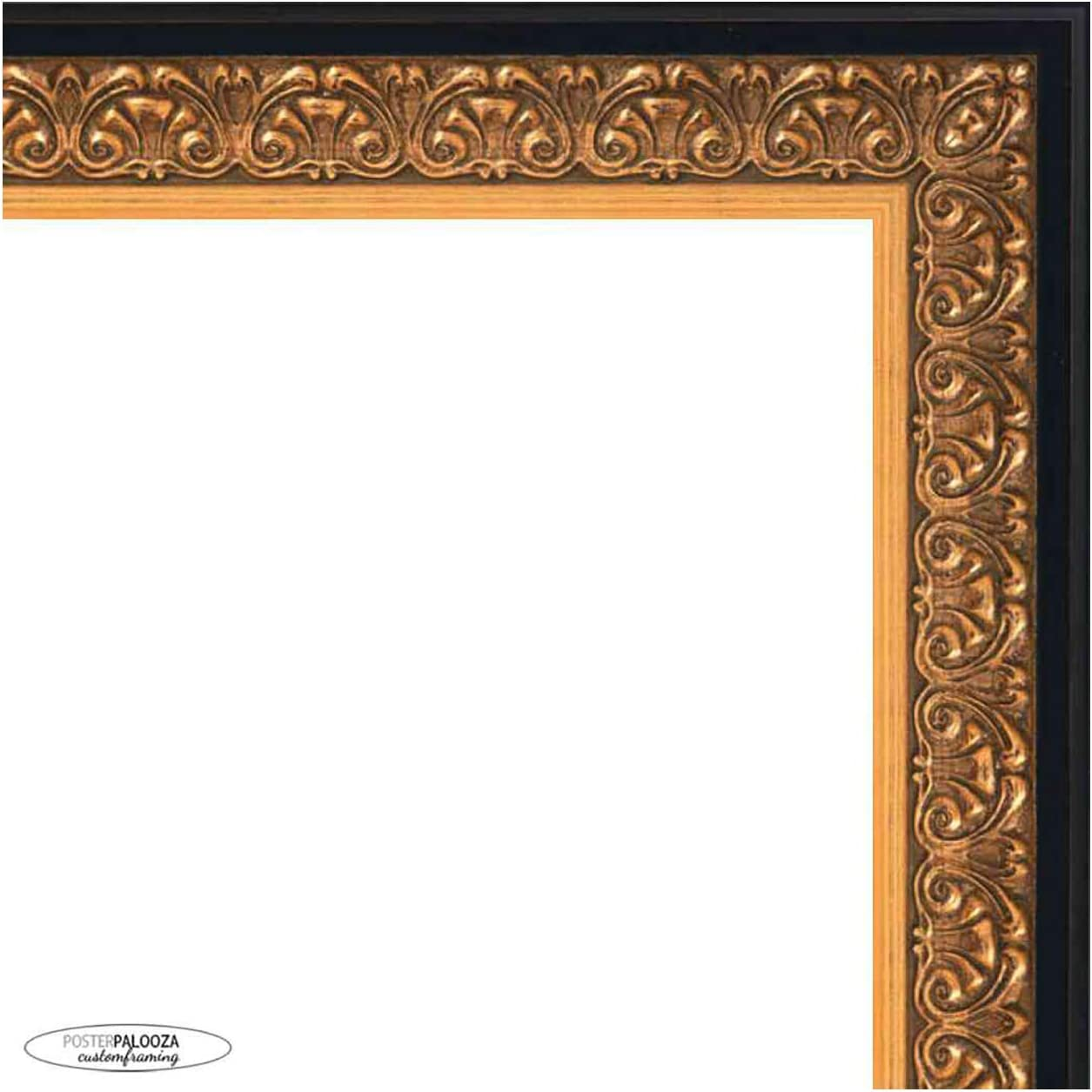 Poster Palooza 20x18 Under blast sales Ornate Gold Complete Picture Indianapolis Mall Frame wit Wood