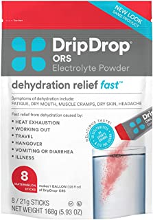 DripDrop ORS BIG Sticks Electrolyte Powder For Dehydration Relief Fast For Workout, Hangover, Illness, & Tr...