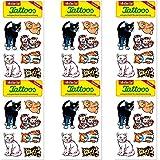 6-teiliges Tattoo-Set * SÜSSE Katzen * vom Mauder-Verlag | Kinder Kindertattoo Kindergeburtstag Geburtstag Mitgebsel Geschenk Katze Katzen Tier