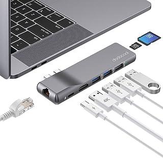 Hub USB C, dodocool Ethernet RJ45 Adattatore per MacBook Air/Pro, con 4K HDMI, Thunderbolt 3 100W PD, 2 Porte USB 3.0 et 1...