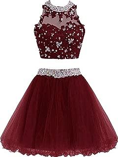 Best burgundy dress 2 piece Reviews