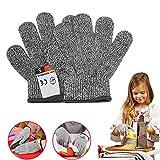 Coltum Schnittsichere Handschuhe für Kinder,Arbeitshandschuhe Kinder, Handschuhe für Gartenbau, lebensmittelecht,Leistungsfähiger Level 5 Schutz,Geeignet für 5-8 Jährige (XXS)
