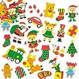 Adesivi in Gommapiuma Laboratorio di Babbo Natale Baker Ross (confezione da 1)- Artigianato e progetti artistici natalizi per bambini, cartoline, biglietti, regalini e decorazioni.