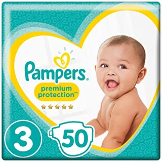 Pampers Premium Protection, Size 3 Crawler (6kg-10kg), 50 Nappies