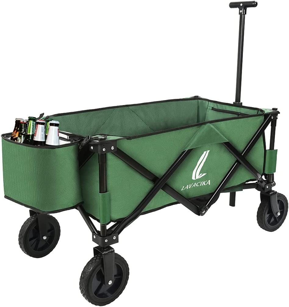 Collapsible Outdoor Folding quality assurance Wagon Cooler Fresno Mall Duty Heavy Camping Cart
