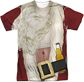 Bad Santa Costume Unisex Adult Front Only Sublimated T Shirt for Men and Women