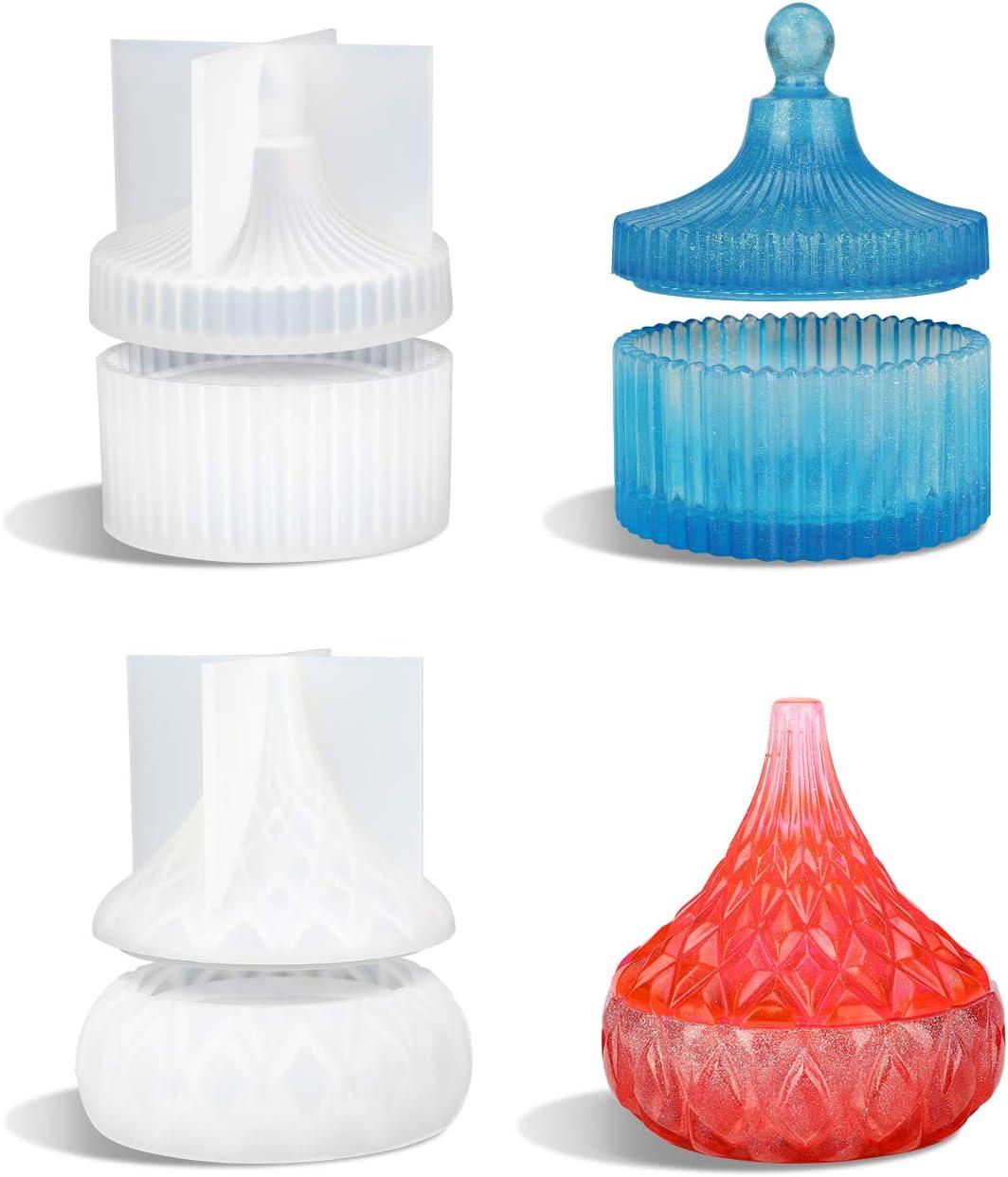 Molde de silicona para resina epoxi alhajeros pack 2