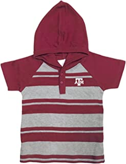 NCAA Texas A&M Aggies Toddler Boys Rugby Short Sleeve Hooded Shirt, Size 3, Maroon/Heather