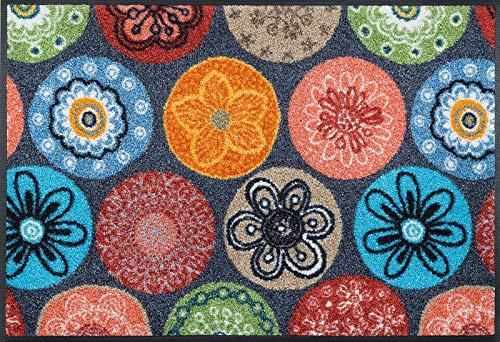 Wash+Dry Fußmatte Coralis, 50x75 cm, Innen und Außen, waschbar, Bunt