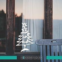 Kerstboom Stickers - Sneeuwvlokken ramen stickers - 30x50 cm Santa's Rendier