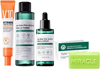 SomebyMi AHA-BHA-PHA 30 Days Miracle Soap, Miracle Toner, Miracle Serum, V10 Vitamin Tone-up Cream SET