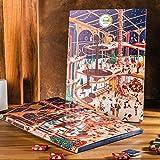 Venchi Calendario Dell'avvento, 79g - Con Cioccolatini Granblend Di Natale Assortiti - Senza Glutine, Cioccolato