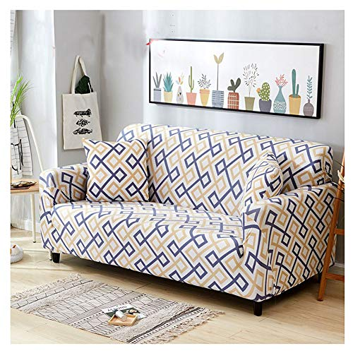 ZIXING Fashion Funda para sofá, Antideslizante, Estampado de Moderno y Simple, de 1/2/3/4 plazas, Protector para Mascotas 190 * 230cm