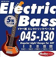 """Ikebe Original Electric Bass Strings """"イケベ弦 5弦エレキベース用 045-130"""" [Regular Light Gauge for 5ST/IKB-EBS-45130]"""